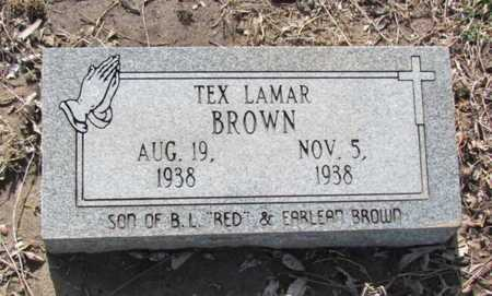 BROWN, TEX LAMAR - Poinsett County, Arkansas | TEX LAMAR BROWN - Arkansas Gravestone Photos