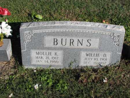 BURNS, MOLLIE K. - Poinsett County, Arkansas | MOLLIE K. BURNS - Arkansas Gravestone Photos