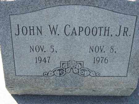 CAPOOTH, JR., JOHN W. - Poinsett County, Arkansas | JOHN W. CAPOOTH, JR. - Arkansas Gravestone Photos