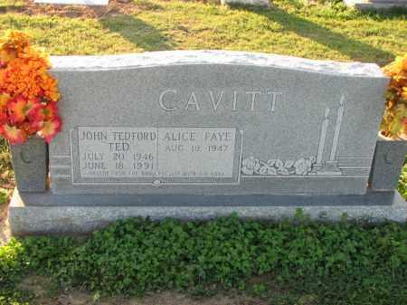 CAVITT, JOHN TEDFORD - Poinsett County, Arkansas | JOHN TEDFORD CAVITT - Arkansas Gravestone Photos