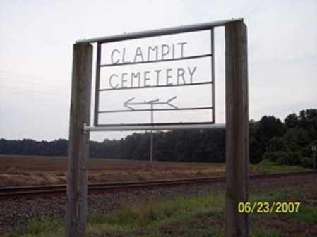 *CLAMPIT CEMETERY SIGN,  - Poinsett County, Arkansas |  *CLAMPIT CEMETERY SIGN - Arkansas Gravestone Photos