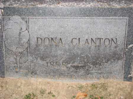 CLANTON, DONA - Poinsett County, Arkansas | DONA CLANTON - Arkansas Gravestone Photos