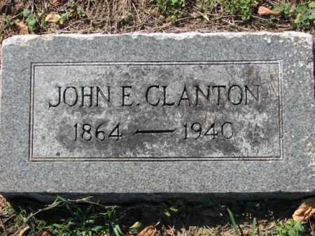 CLANTON, JOHN E. - Poinsett County, Arkansas | JOHN E. CLANTON - Arkansas Gravestone Photos