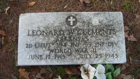 CLEMENTS (VETERAN WWII), LEONARD W - Poinsett County, Arkansas | LEONARD W CLEMENTS (VETERAN WWII) - Arkansas Gravestone Photos