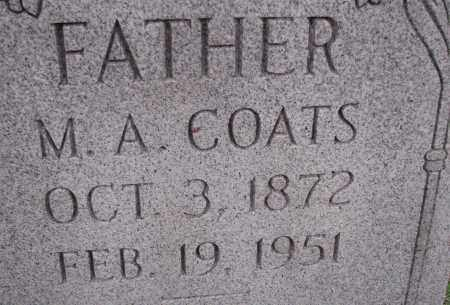 COATS, M. A. - Poinsett County, Arkansas | M. A. COATS - Arkansas Gravestone Photos