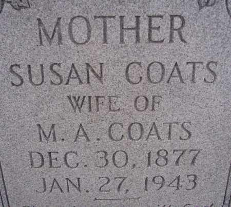COATS, SUSAN - Poinsett County, Arkansas | SUSAN COATS - Arkansas Gravestone Photos
