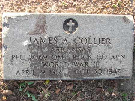 COLLIER (VETERAN WWII), JAMES A - Poinsett County, Arkansas | JAMES A COLLIER (VETERAN WWII) - Arkansas Gravestone Photos