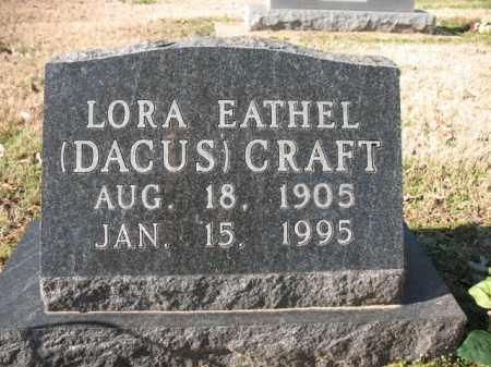 CRAFT, LORA EATHEL - Poinsett County, Arkansas | LORA EATHEL CRAFT - Arkansas Gravestone Photos
