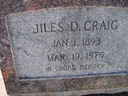 CRAIG, JILES D. - Poinsett County, Arkansas | JILES D. CRAIG - Arkansas Gravestone Photos