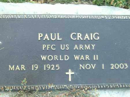 CRAIG  (VETERAN WWII), PAUL - Poinsett County, Arkansas   PAUL CRAIG  (VETERAN WWII) - Arkansas Gravestone Photos