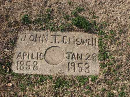 CRISWELL, JOHN T. - Poinsett County, Arkansas | JOHN T. CRISWELL - Arkansas Gravestone Photos