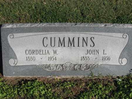 CUMMINS, CORDELIA W. - Poinsett County, Arkansas   CORDELIA W. CUMMINS - Arkansas Gravestone Photos