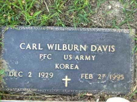 DAVIS  (VETERAN KOR), CARL WILBURN - Poinsett County, Arkansas   CARL WILBURN DAVIS  (VETERAN KOR) - Arkansas Gravestone Photos
