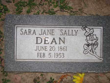 "DEAN, SARA JANE ""SALLY"" - Poinsett County, Arkansas | SARA JANE ""SALLY"" DEAN - Arkansas Gravestone Photos"