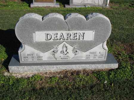 DEAREN, TOYE K. - Poinsett County, Arkansas | TOYE K. DEAREN - Arkansas Gravestone Photos