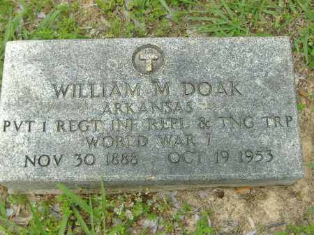 DOAK  (VETERAN WWI), WILLIAM M - Poinsett County, Arkansas | WILLIAM M DOAK  (VETERAN WWI) - Arkansas Gravestone Photos