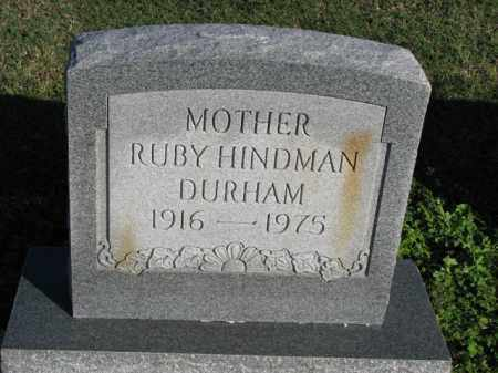 HINDMAN DURHAM, RUBY - Poinsett County, Arkansas | RUBY HINDMAN DURHAM - Arkansas Gravestone Photos