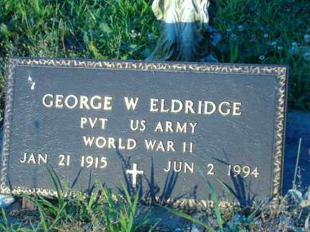 ELDRIDGE  (VETERAN WWII), GEORGE W - Poinsett County, Arkansas | GEORGE W ELDRIDGE  (VETERAN WWII) - Arkansas Gravestone Photos