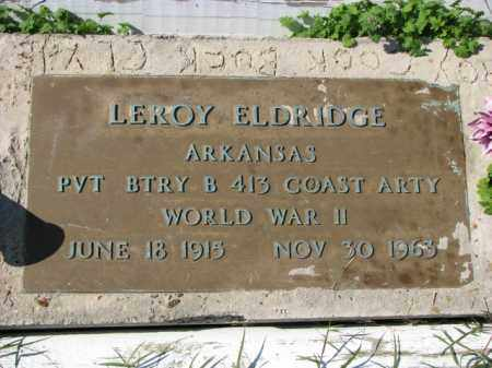 ELDRIDGE (VETERAN WWII), LEROY - Poinsett County, Arkansas | LEROY ELDRIDGE (VETERAN WWII) - Arkansas Gravestone Photos