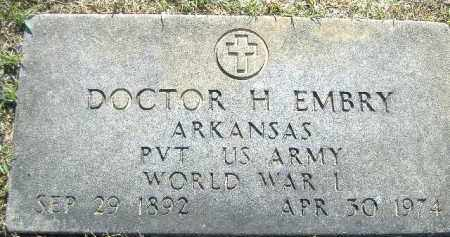 EMBRY  (VETERAN WWI), DOCTOR H. - Poinsett County, Arkansas | DOCTOR H. EMBRY  (VETERAN WWI) - Arkansas Gravestone Photos
