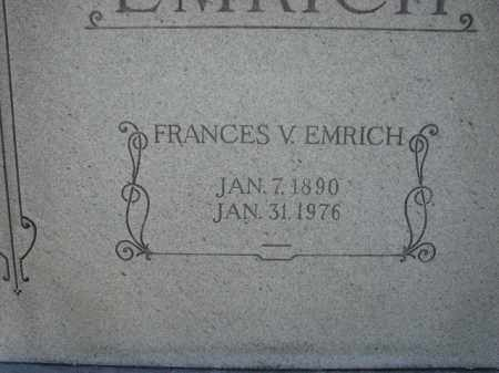 EMRICH, FRANCES V. - Poinsett County, Arkansas | FRANCES V. EMRICH - Arkansas Gravestone Photos