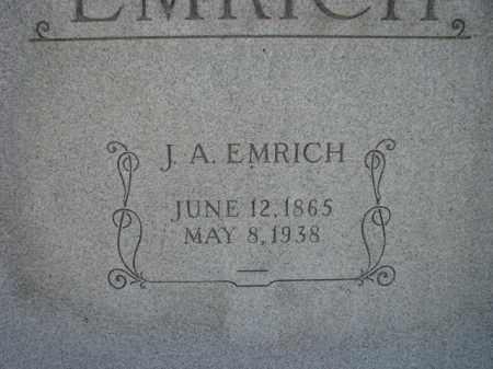 EMRICH, J.A. - Poinsett County, Arkansas | J.A. EMRICH - Arkansas Gravestone Photos