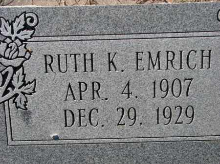 EMRICH, RUTH K. - Poinsett County, Arkansas | RUTH K. EMRICH - Arkansas Gravestone Photos