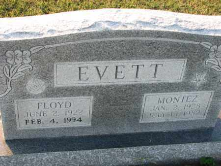 EVETT, MONTEZ - Poinsett County, Arkansas | MONTEZ EVETT - Arkansas Gravestone Photos
