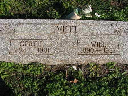 EVETT, GERTIE - Poinsett County, Arkansas | GERTIE EVETT - Arkansas Gravestone Photos