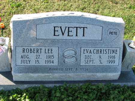 EVETT, EVA CHRISTINE - Poinsett County, Arkansas   EVA CHRISTINE EVETT - Arkansas Gravestone Photos