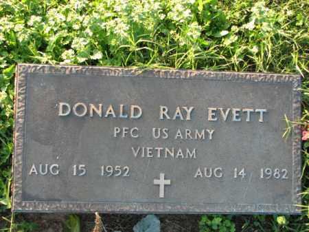 EVETT (VETERAN VIET), DONALD RAY - Poinsett County, Arkansas | DONALD RAY EVETT (VETERAN VIET) - Arkansas Gravestone Photos