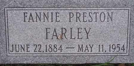 PRESTON FARLEY, FANNIE - Poinsett County, Arkansas | FANNIE PRESTON FARLEY - Arkansas Gravestone Photos