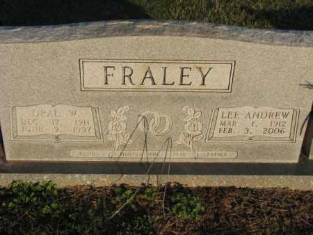 FRALEY, LEE ANDREW - Poinsett County, Arkansas | LEE ANDREW FRALEY - Arkansas Gravestone Photos