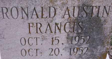 FRANCIS, RONALD AUSTIN - Poinsett County, Arkansas   RONALD AUSTIN FRANCIS - Arkansas Gravestone Photos