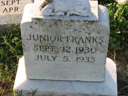 FRANKS, JUNIOR - Poinsett County, Arkansas | JUNIOR FRANKS - Arkansas Gravestone Photos