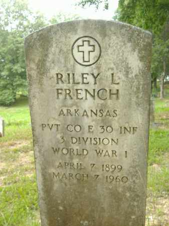 FRENCH  (VETERAN WWI), RILEY L - Poinsett County, Arkansas | RILEY L FRENCH  (VETERAN WWI) - Arkansas Gravestone Photos