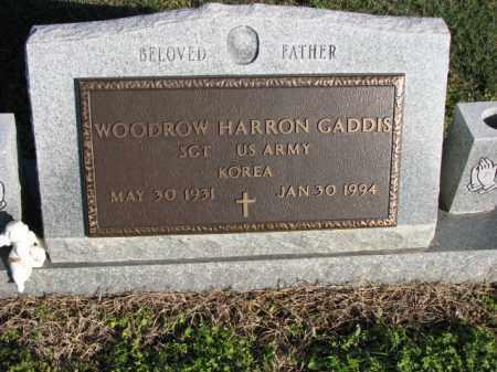 GADDIS (VETERAN KOR), WOODROW HARRON - Poinsett County, Arkansas   WOODROW HARRON GADDIS (VETERAN KOR) - Arkansas Gravestone Photos