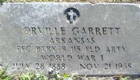 GARRETT  (VETERAN WWI), ORVILLE - Poinsett County, Arkansas | ORVILLE GARRETT  (VETERAN WWI) - Arkansas Gravestone Photos