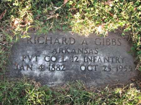 GIBBS (VETERAN), RICHARD A - Poinsett County, Arkansas | RICHARD A GIBBS (VETERAN) - Arkansas Gravestone Photos