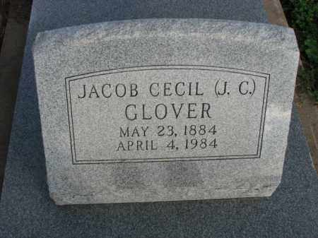 GLOVER, JACOB CECIL (J.C.) - Poinsett County, Arkansas | JACOB CECIL (J.C.) GLOVER - Arkansas Gravestone Photos