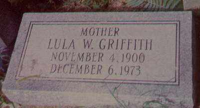 "WEST GRIFFITH, ""LULA"" FRANCIS LOUELLA - Poinsett County, Arkansas 