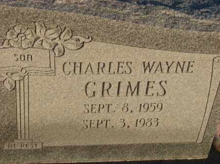 GRIMES, CHARLES WAYNE - Poinsett County, Arkansas   CHARLES WAYNE GRIMES - Arkansas Gravestone Photos