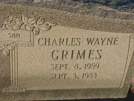 GRIMES, CHARLES WAYNE - Poinsett County, Arkansas | CHARLES WAYNE GRIMES - Arkansas Gravestone Photos