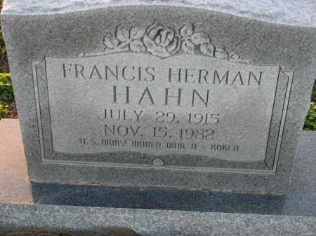 HAHN (VETERAN 2 WARS), FRANCIS HERMAN - Poinsett County, Arkansas   FRANCIS HERMAN HAHN (VETERAN 2 WARS) - Arkansas Gravestone Photos