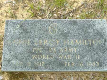 HAMILTON  (VETERAN WWII), ONNIE LEROY - Poinsett County, Arkansas   ONNIE LEROY HAMILTON  (VETERAN WWII) - Arkansas Gravestone Photos