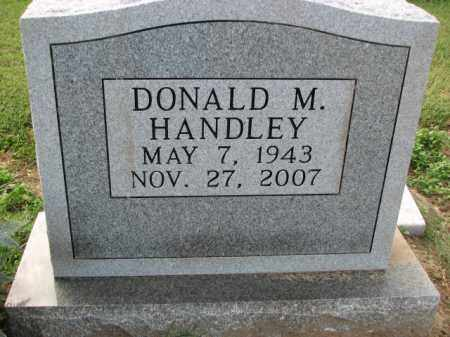 HANDLEY, DONALD M. - Poinsett County, Arkansas | DONALD M. HANDLEY - Arkansas Gravestone Photos