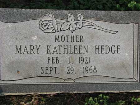 HEDGE, MARY KATHLEEN - Poinsett County, Arkansas | MARY KATHLEEN HEDGE - Arkansas Gravestone Photos