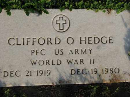 HEDGE (VETERAN WWII), CLIFFORD O - Poinsett County, Arkansas | CLIFFORD O HEDGE (VETERAN WWII) - Arkansas Gravestone Photos