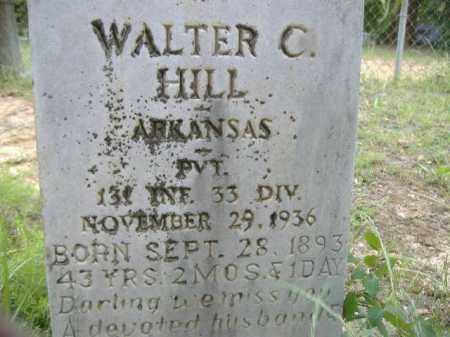 HILL  (VETERAN), WALTER C - Poinsett County, Arkansas | WALTER C HILL  (VETERAN) - Arkansas Gravestone Photos