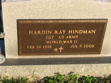 HINDMAN (VETERAN WWII), HARDIN RAY - Poinsett County, Arkansas | HARDIN RAY HINDMAN (VETERAN WWII) - Arkansas Gravestone Photos